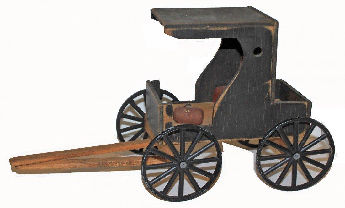 11: Wooden Folk Art Amish Buggy.