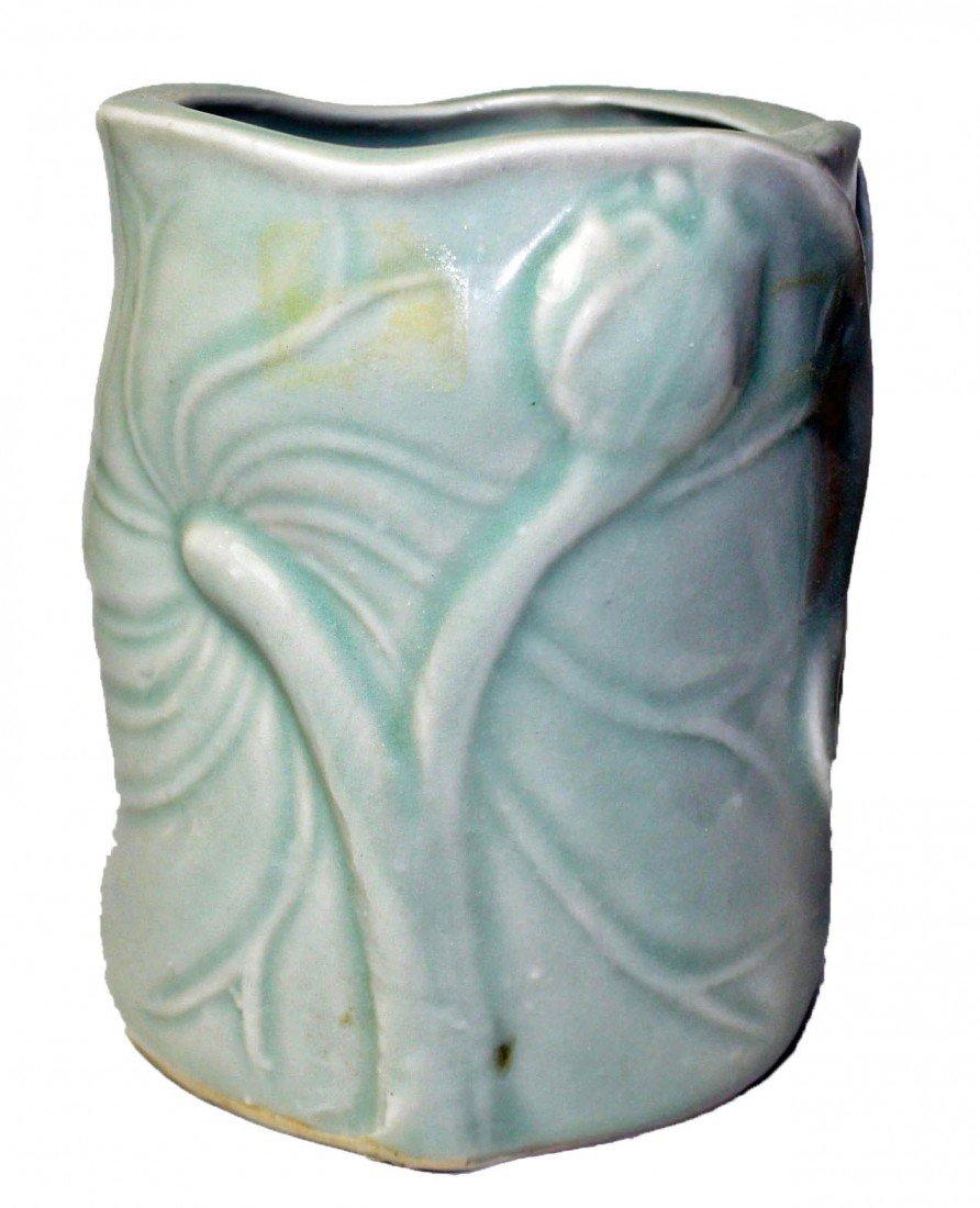 17: Chinese Celadon Brush Pot