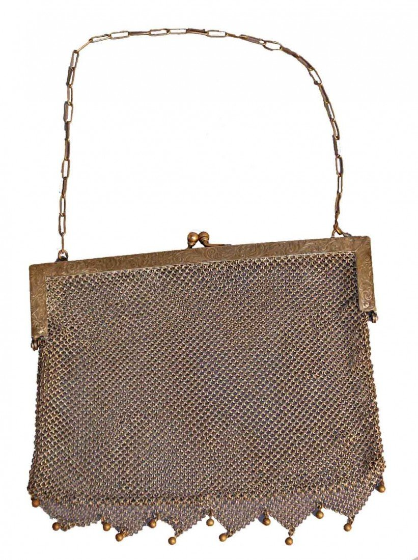 18: 20th Century German Silver Mesh Bag