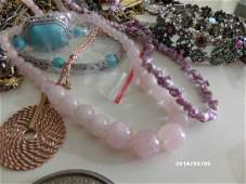 Bag of Vintage Costume Jewelry: Includes Pendants and
