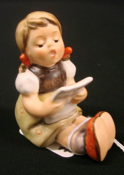 "3: Hummel Figurine ""Girl with Sheet Music"" #389, TM 6,"