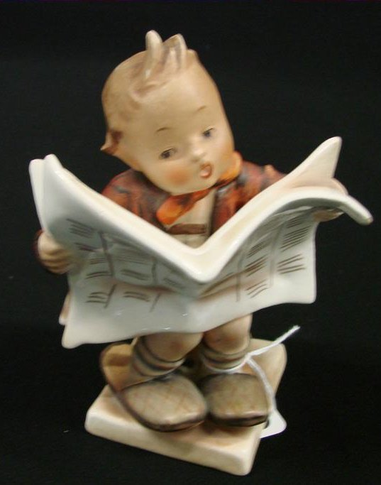 "23: Hummel Figurine ""Latest News"" #184 TM 2, Book Value"