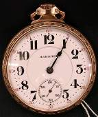 233: Antique Hamilton Railroad Pocket Watch, 21 Jewel's