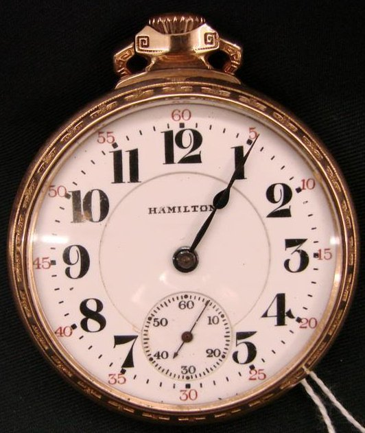 233: Antique Hamilton Railroad Pocket Watch, 21 Jewel's