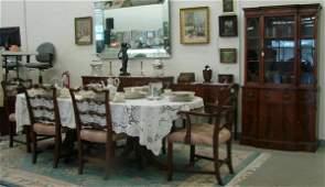 456: 12pc Mahogany Duncan Phyfe Style Dining Room Set w