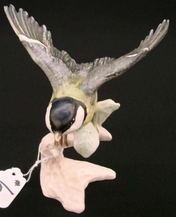 6: Signed Goebel Bird Figurine of a Titmouse with Wings