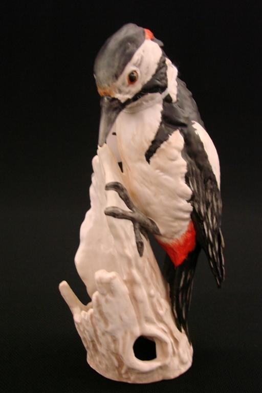 7: Signed Goebel Bird Figurine Great Spotted Woodpecker