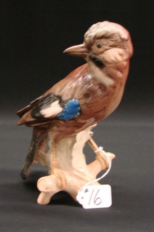 16: Signed Goebel Bird Figurine in a High Glaze Finish.