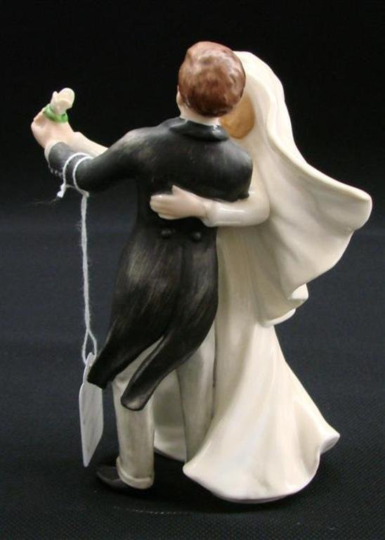 19: Signed Goebel Porcelain Bride & Groom Figurine, TM