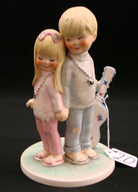 20: Signed Goebel Figurine with a Boy & Girl in Love TM
