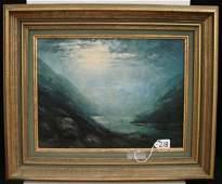 218 Alaskan Landscape Painting by Leonard Moore Davis