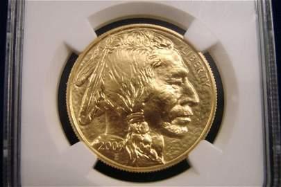 310: Graded $50 US Buffalo Gold 1 Oz. Coin. Graded MS-7