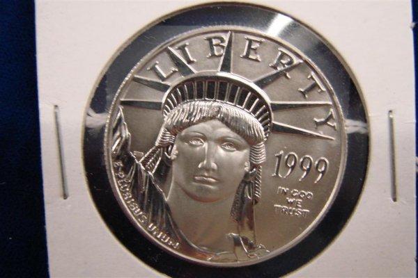 311: 1999 Liberty US 1 Oz. Platinum Coin. Auction Estim