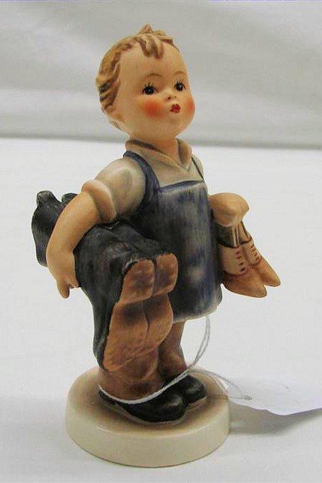 "5: Hummel Figurine: ""Boots"" # 143/0, TMK 3. Book Value"