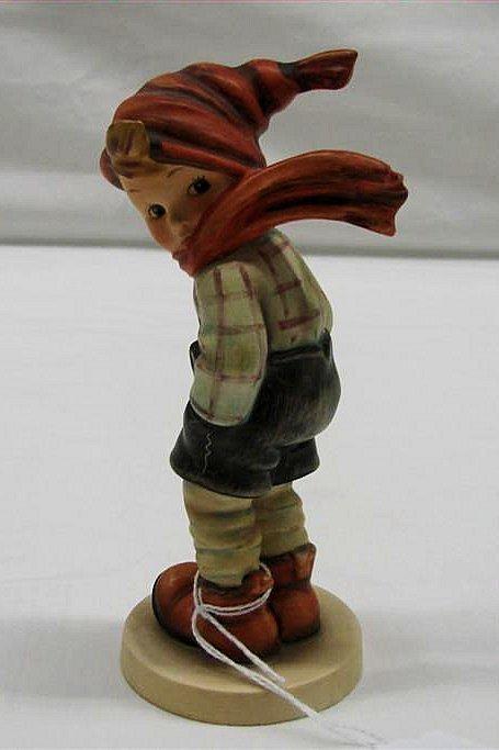 "6: Hummel Figurine: ""March Winds"" # 43, TMK 3. Book Val"