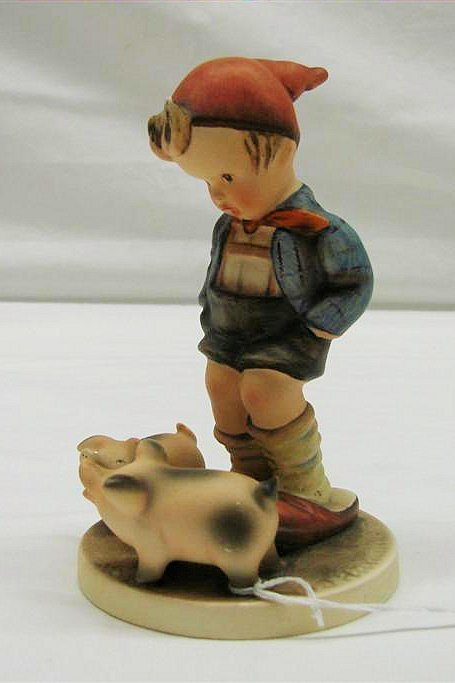 "7: Hummel Figurine: ""Farm Boy"" # 66, TMK 3. Book Value"