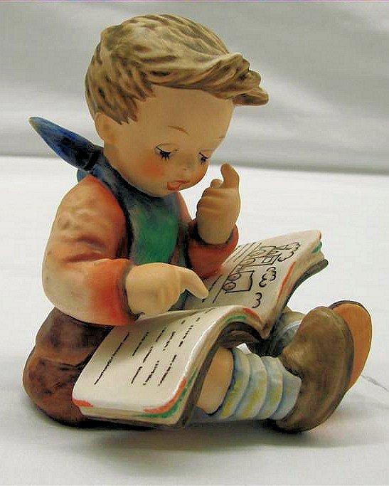 "10: Hummel Figurine: ""Thoughtful"" # 415, TMK 6. Book Va"