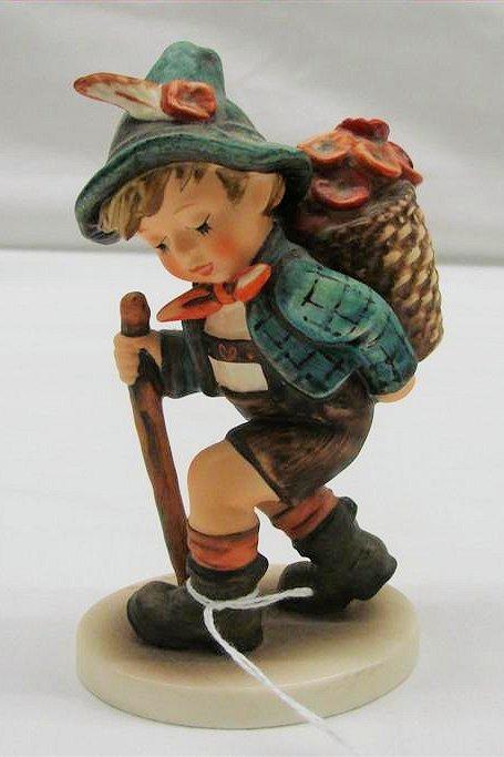 "13: Hummel Figurine: ""Flower Vendor"" # 381, TMK 6. Book"