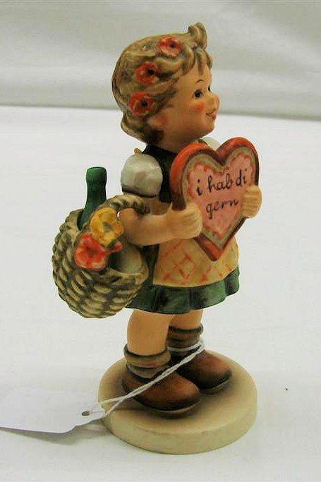 "17: Hummel Figurine: ""Valentine Gift"" # 387, TMK 5. Boo"