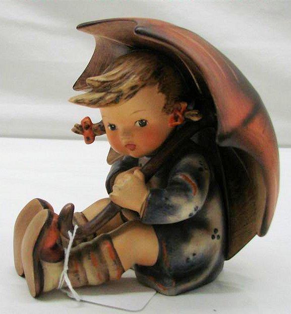 "21: Hummel Figurine: ""Umbrella Girl"" #152/0/B, TMK 3. B"