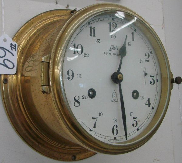 85: Schatz Royal Mariner Ships Bell Clock - 2