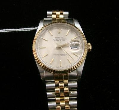 331: Vtg 18K Rolex Oyster Perpetual Datejust Mens Watch
