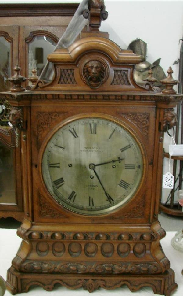 109: Webster Oak Cased Mantle Clock