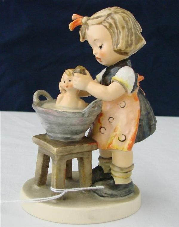 7C: Hummel Figurine: Doll Bath  #319  TM4.