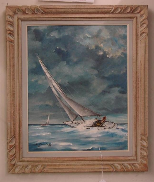 258: Oil on Canvas Board Painting by W. Neudorff. This  - 2