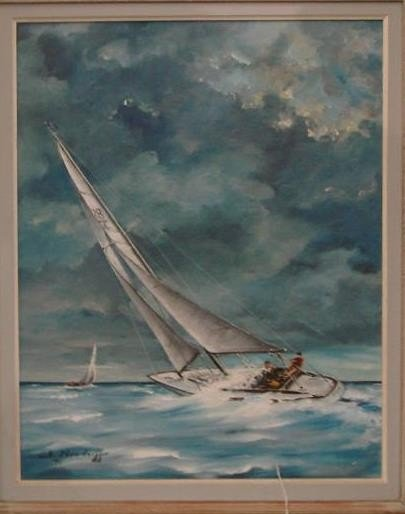 258: Oil on Canvas Board Painting by W. Neudorff. This  - 3