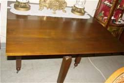 533: Antique Walnut Drop-Leaf Gate-Leg Table