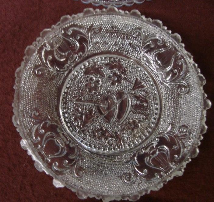 542: 12 Antique Sandwich Glass Cup Plates  - 8