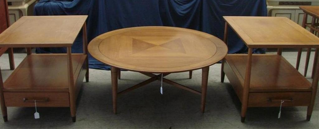 715: Mid Century  Eames Era Henredon Heritage Tables - 2
