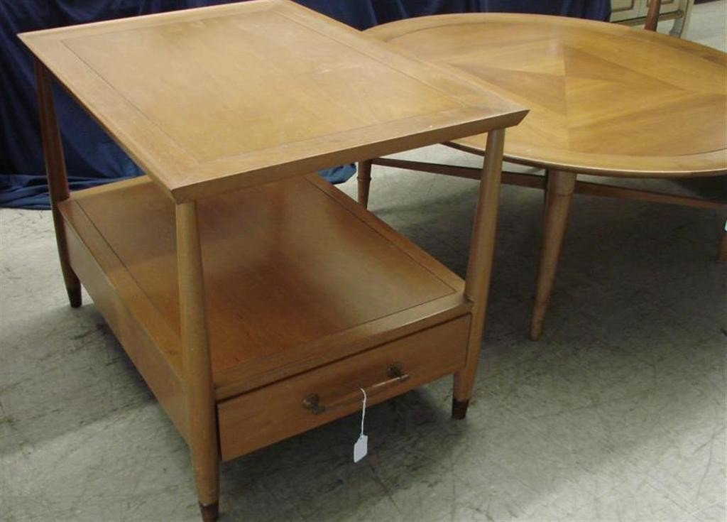 715: Mid Century  Eames Era Henredon Heritage Tables - 3