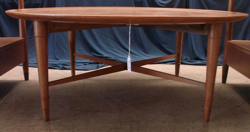 715: Mid Century  Eames Era Henredon Heritage Tables - 6