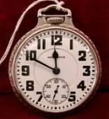 328: Hamilton 21J 992 Antique Pocket Watch 14K WG Case