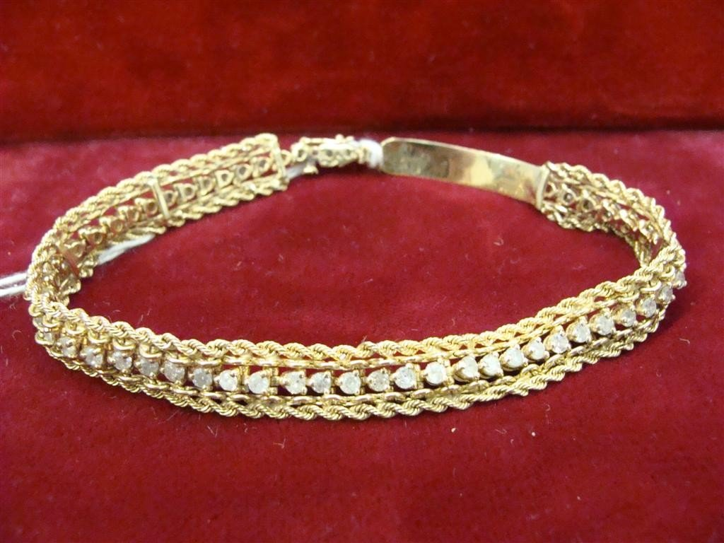 "750: 14K yellow Gold Diamond 8"" Tennis Bracelet 2.75ctw - 10"