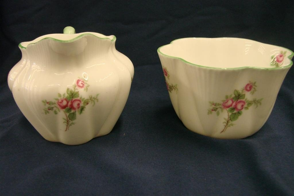 86: Shelley Bone China Creamer & Sugar, Rd #272101 - 3