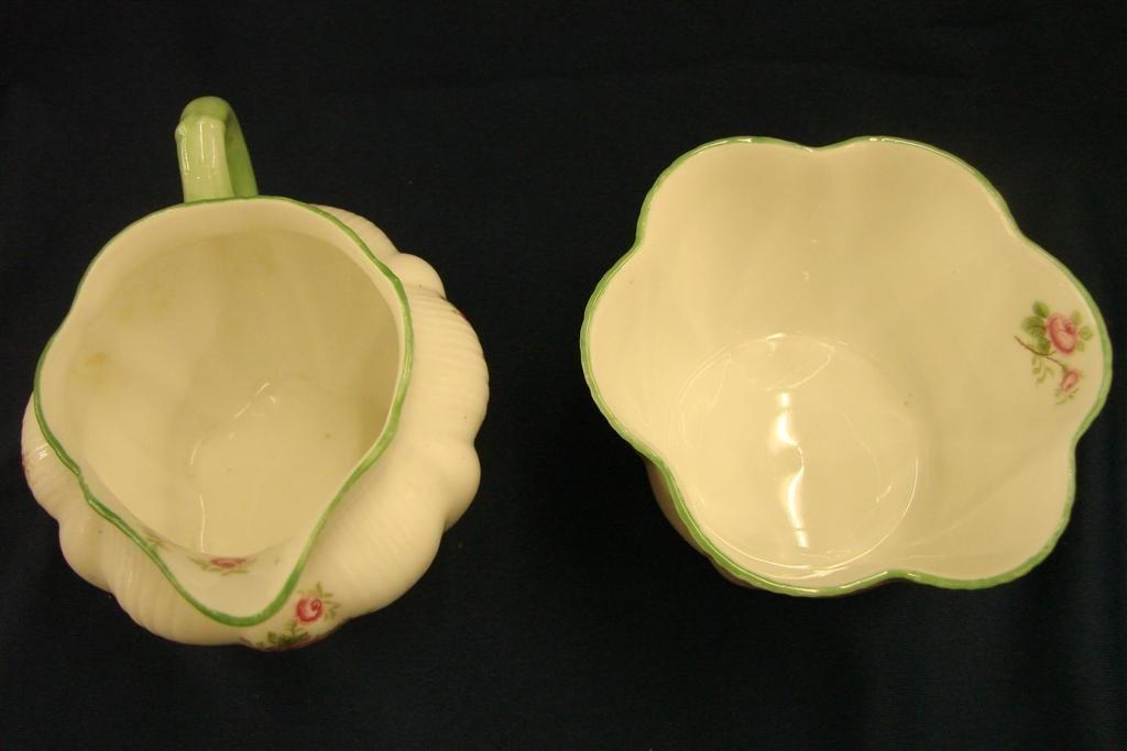 86: Shelley Bone China Creamer & Sugar, Rd #272101 - 4