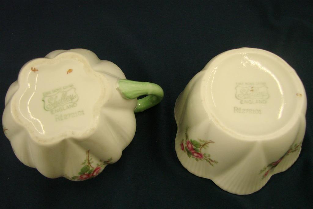 86: Shelley Bone China Creamer & Sugar, Rd #272101 - 5