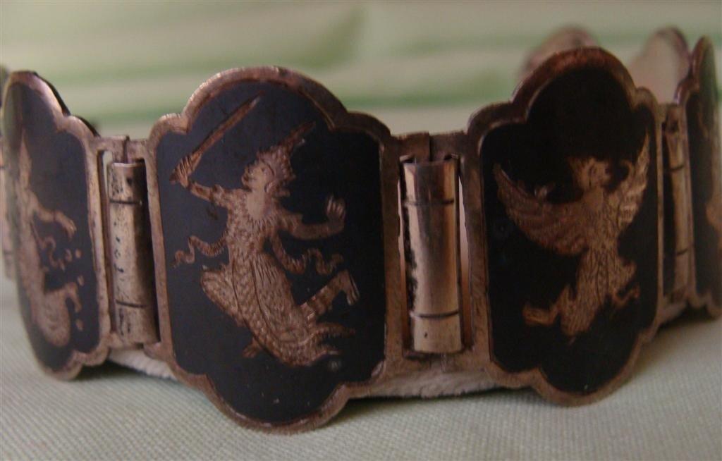 Antique Sterling Silver Neillo Bracelet -Siam