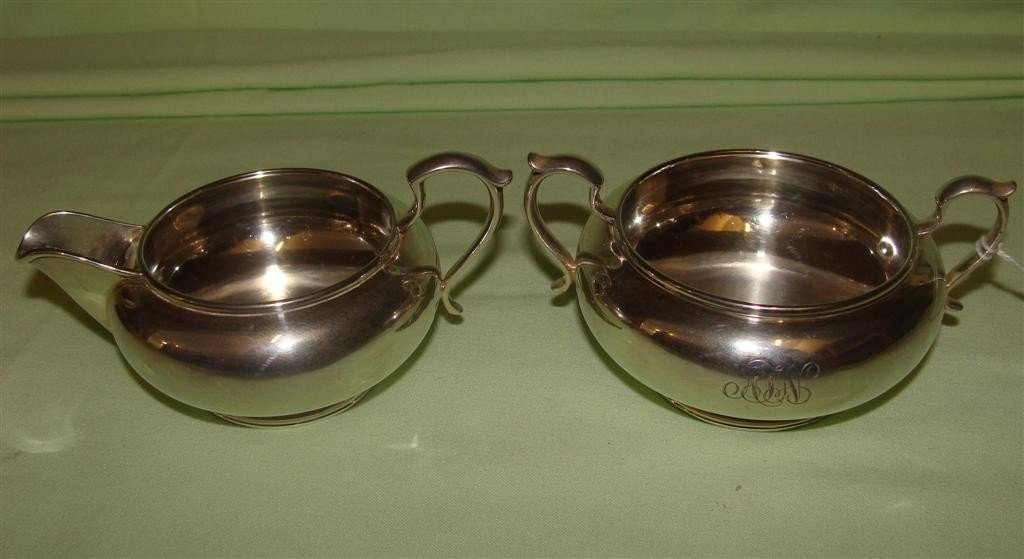 Antique Sterling Silver Creamer & Sugar with