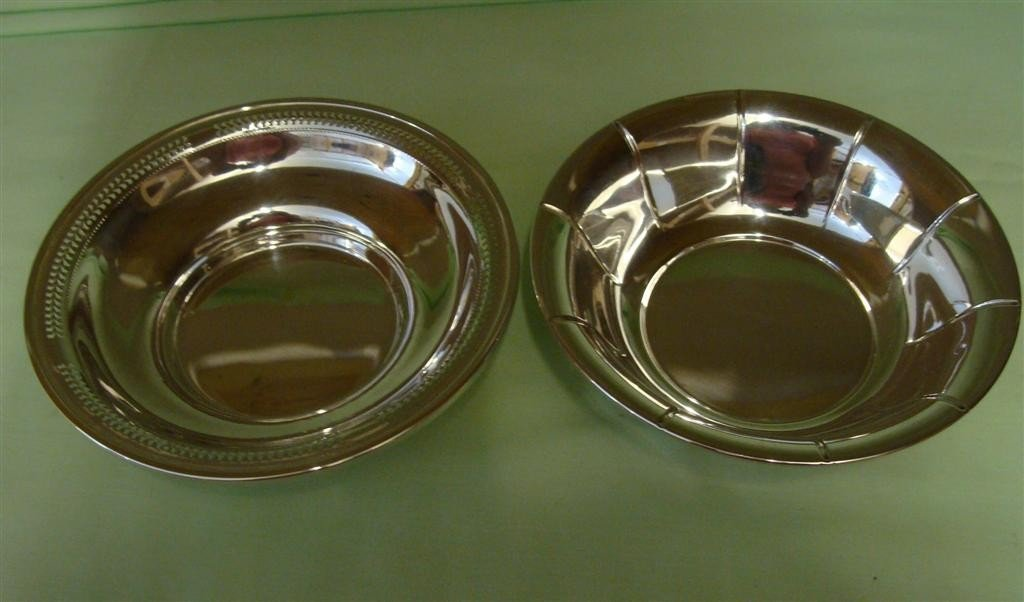 "Two Vintage Sterling Silver Bowls; 5.5"" Diame"