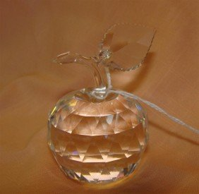 Signed Swarovski Crystal Apple. Auction Estim