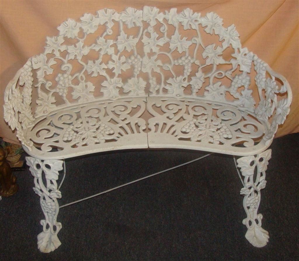 Antique Cast Iron Bench with Ornate Owl Head