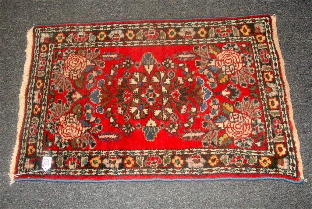 Antique Handmade Oriental Hamadan Rug; 2' x 3