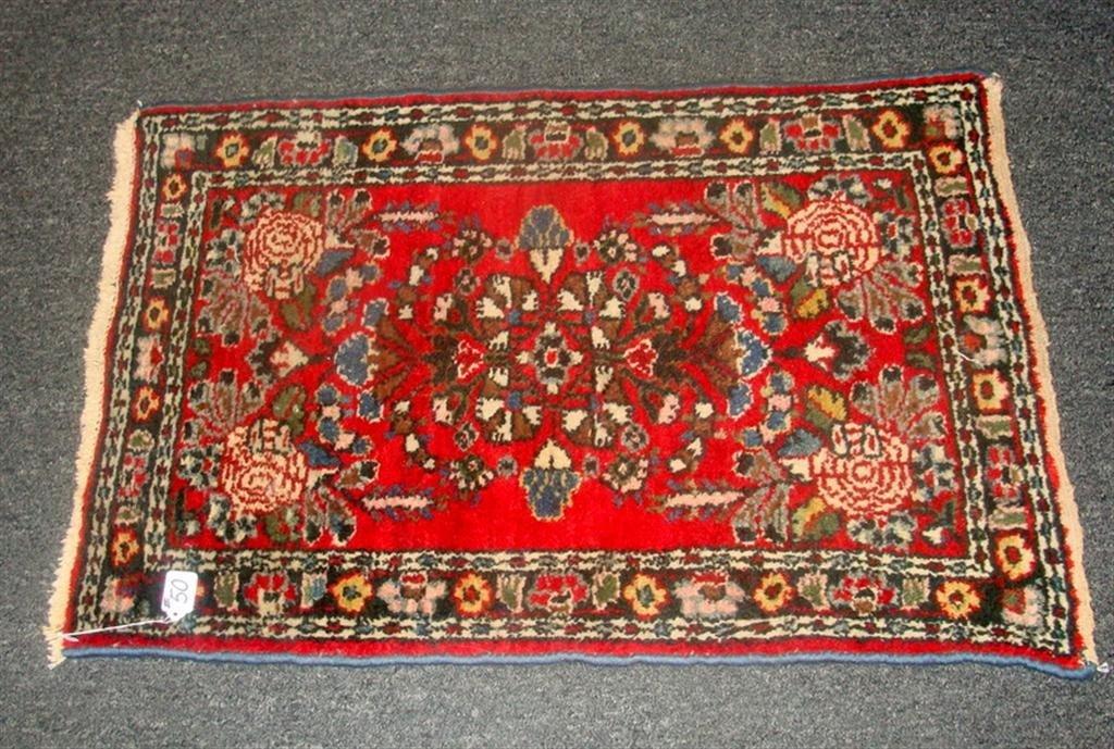 Antique Handmade Oriental Hamadan Rug; 2' x 3 - 2