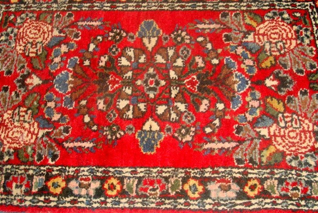 Antique Handmade Oriental Hamadan Rug; 2' x 3 - 3