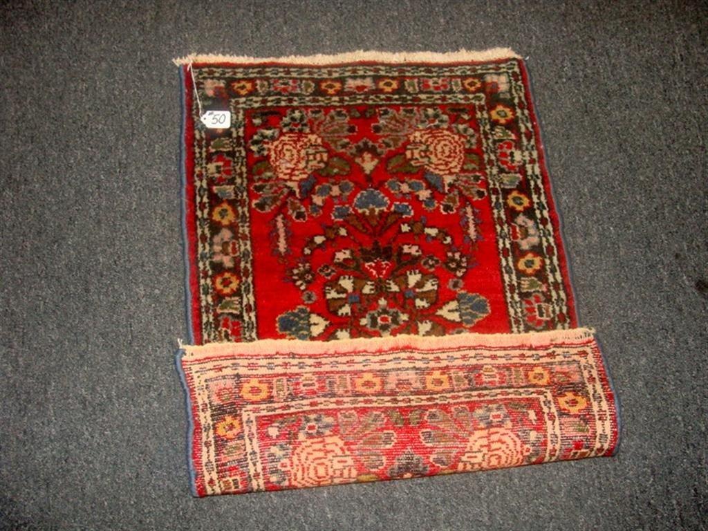 Antique Handmade Oriental Hamadan Rug; 2' x 3 - 4