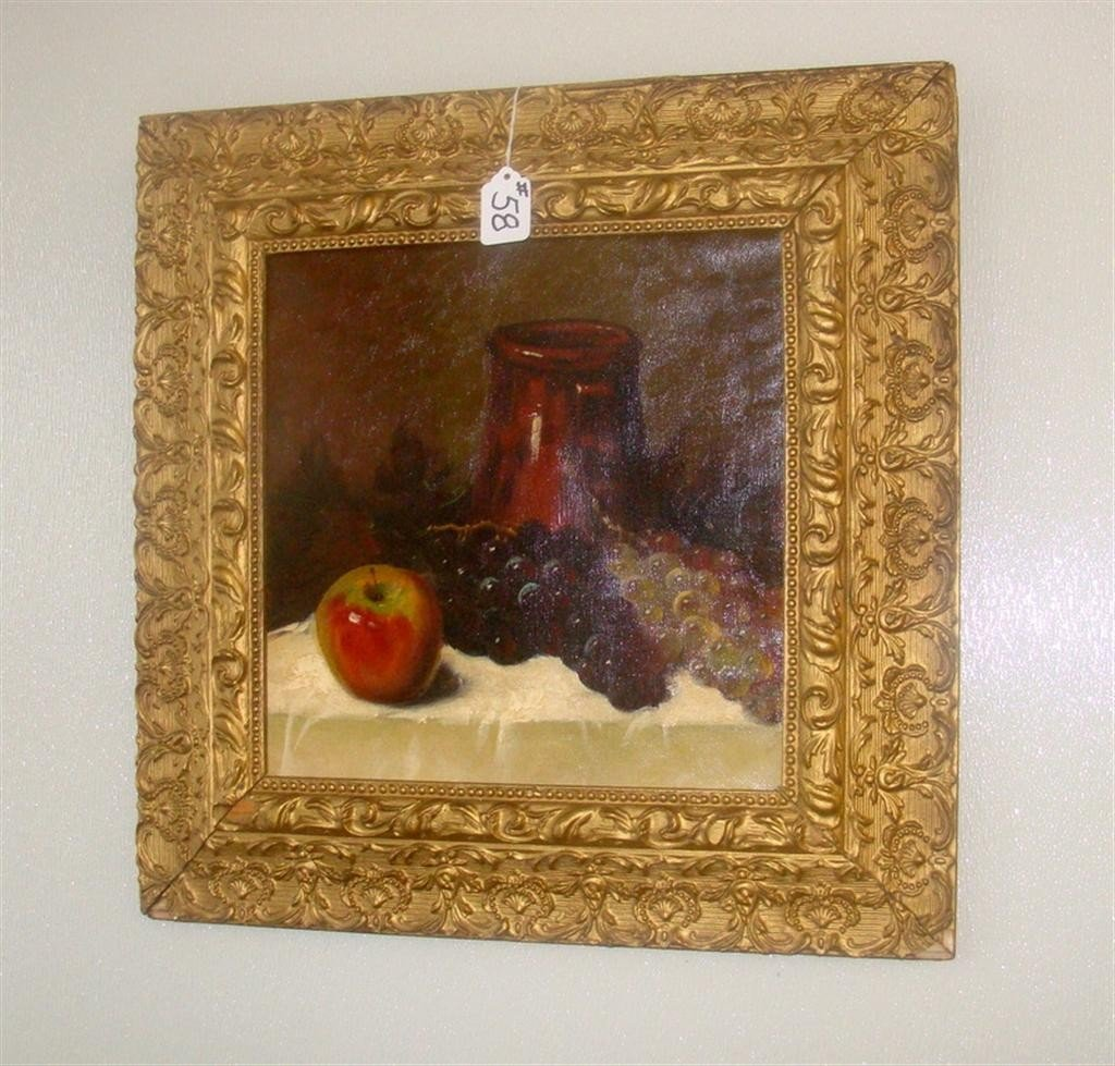 Oil on Canvas Still Life Painting - Fruits &